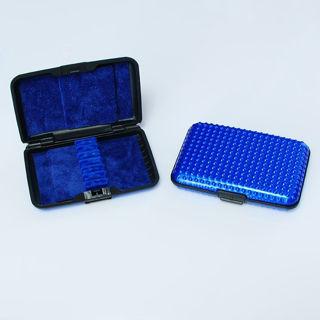 Oboe reed case blue/blue dots
