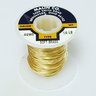 21 gauge, 1/4 lb, soft brass wire